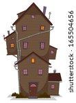 high wood house  illustration...   Shutterstock .eps vector #165504656