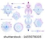 vector set of sacred geometry... | Shutterstock .eps vector #1655078335