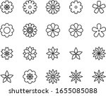 set of flower icons  floral ...   Shutterstock .eps vector #1655085088