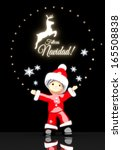 a childish santa claus boy 3d... | Shutterstock . vector #165508838