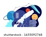 astronomy science. galaxy...   Shutterstock .eps vector #1655092768