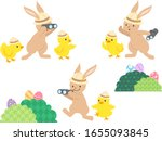 Easter Egg Hunting Bunnies And...