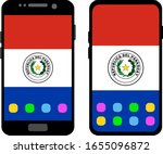 two black smartphones with a... | Shutterstock .eps vector #1655096872