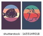 vector illustration of fish and ... | Shutterstock .eps vector #1655149018