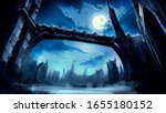 A Beautiful Fantasy Winter City ...