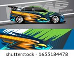 racing car wrap design vector.... | Shutterstock .eps vector #1655184478