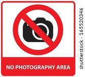 no photography area sign.jpg | Shutterstock . vector #165520346