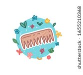 reduce wooden comb icon in... | Shutterstock .eps vector #1655210368