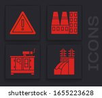 set nuclear power plant ... | Shutterstock .eps vector #1655223628