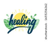 healing lettering on sun and...   Shutterstock .eps vector #1655256262