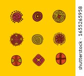 round signs  symbols  ancient... | Shutterstock .eps vector #1655265958