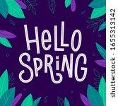 hello spring hand drawn... | Shutterstock .eps vector #1655313142