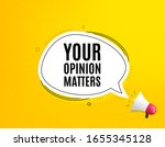 your opinion matters symbol.... | Shutterstock .eps vector #1655345128