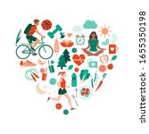 healthy lifestyle and self care ... | Shutterstock .eps vector #1655350198