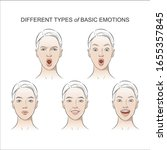 set of women's emotions ...   Shutterstock .eps vector #1655357845