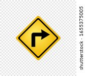 Road Sign Right Turn Icon