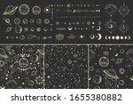 vector illustration set of moon ...   Shutterstock .eps vector #1655380882