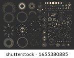 vector illustration set of moon ...   Shutterstock .eps vector #1655380885