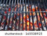 Glowing Coal In Bbq Grill