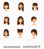 avatar set  simple  cute and... | Shutterstock .eps vector #1655415475