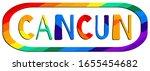 Cancun. Multicolored Bright...
