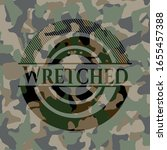 Wretched On Camo Texture....