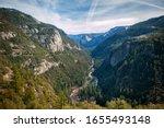 Horizontal View Of Yosemite...