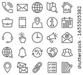 contact us icons isolated on... | Shutterstock .eps vector #1655505382