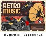 Vinyl Records Retro Music And...