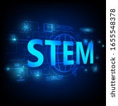 stem education  consisting of ... | Shutterstock .eps vector #1655548378