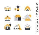 line and geometry house ... | Shutterstock .eps vector #1655549638