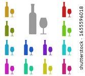 wine  bottle  glass multi color ...