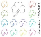 shamrock multi color icon....