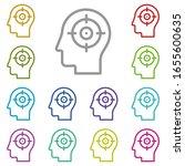 human  brain  focus multi color ...
