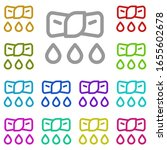 wring multi color icon. simple...