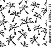pattern seamless of palm tree... | Shutterstock .eps vector #1655612458