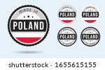 made in poland. set of labels... | Shutterstock .eps vector #1655615155