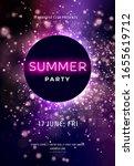 dark purple neon party flyer... | Shutterstock .eps vector #1655619712