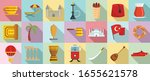 turkey country icons set. flat... | Shutterstock .eps vector #1655621578