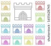 history  gate multi color icon. ...