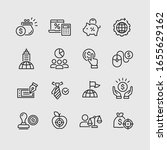 global business vector icons set | Shutterstock .eps vector #1655629162