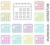 calendar multi color icon....