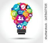 digital marketing applications... | Shutterstock .eps vector #1655637535