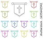 history  banner multi color...
