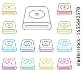 hardware  hard disk multi color ...