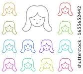 woman multi color icon. simple...