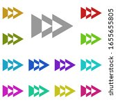 three arrows to the right multi ...