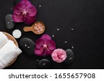 top view luxury spa with orchid ... | Shutterstock . vector #1655657908