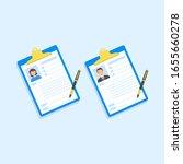 document profile  design...   Shutterstock .eps vector #1655660278