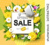 spring sale background with... | Shutterstock .eps vector #1655667442